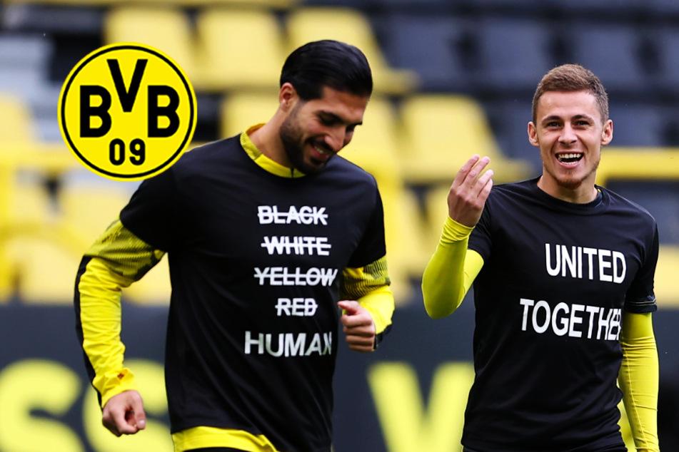 BVB-Spieler protestieren gegen Rassismus und den Mord an George Floyd!