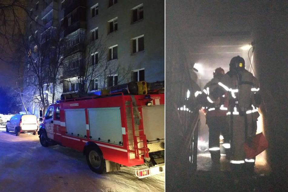 Feuer in Wohnhaus ausgebrochen: Acht Tote, darunter ein Kind