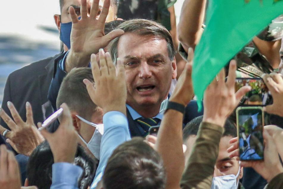 Der rechtspopulistische Präsident Jair Bolsonaro (65) pfeift auf Corona-Schutzmaßnahmen (Aufnahme vom 30. April 2020).
