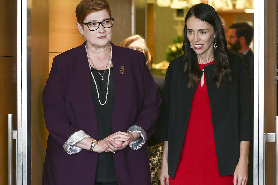Die australische Außenministerin Marise Payne (links), hier mit der Premierministerin von Neuseeland, Jacinda Ardern (re.).