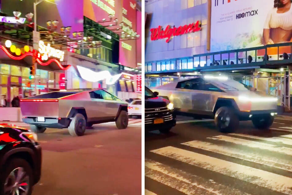 Was Elon Musk driving the Tesla Cybertruck spotted in Times Square?