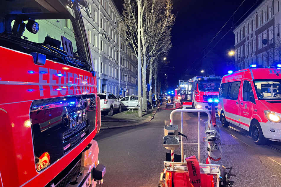 Brandstiftung auf Leipziger Eisenbahnstraße: Zwei Menschen verletzt!