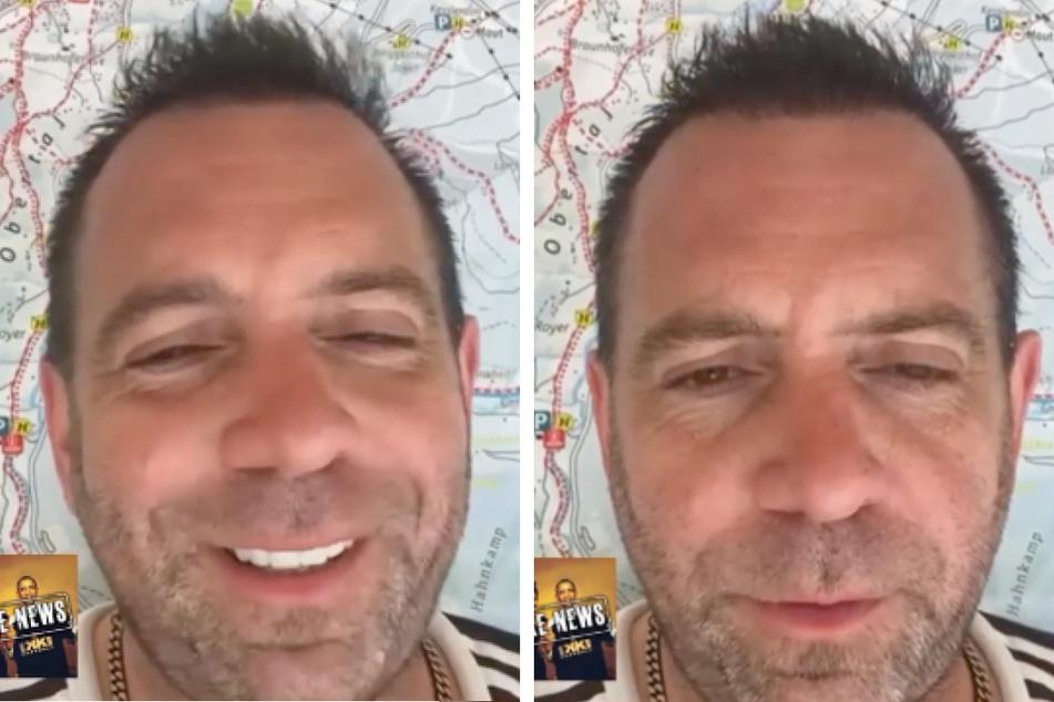 Ikke Hüftgold (44) klärt das Obama-Foto in einem Instagram-Video als Fake News auf. (Fotomontage)