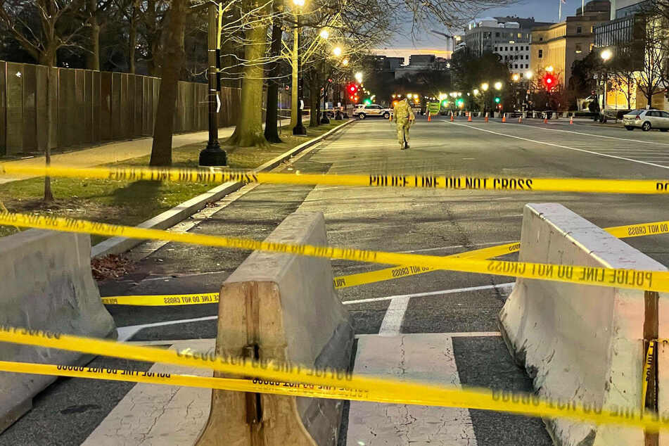 Police checkpoint have been set up in downtown Washington DC after the deadly siege of the Capitol by pro-Trump supporters January 6.