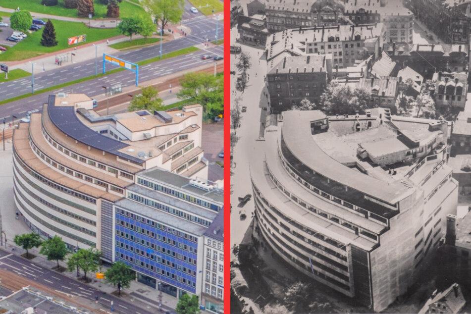 Manche Eckpfeiler des alten Chemnitz wie das Schocken-Gebäude prägen das Stadtbild bis heute.