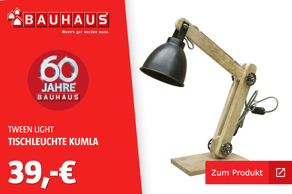 Tischleuchte 'Kumla' für 39 Euro.