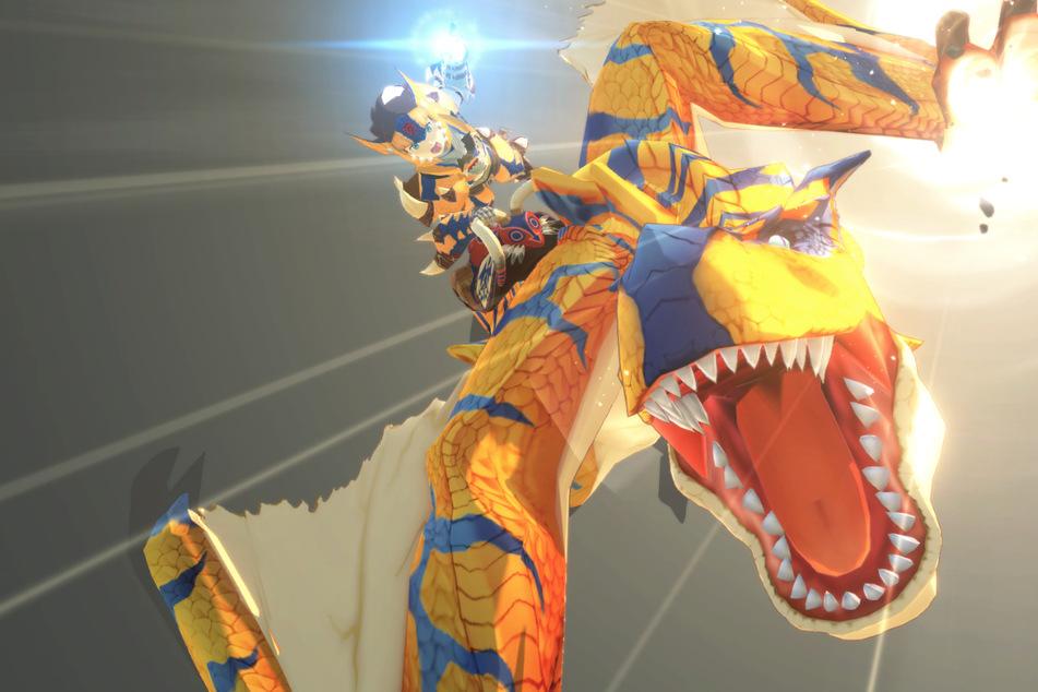 """In """"Monster Hunter Stories 2"""" könnt Ihr endlich Seite an Seite mit Euren Lieblings-Monstern wie Tigrex, Anjanath oder Rathian kämpfen."""