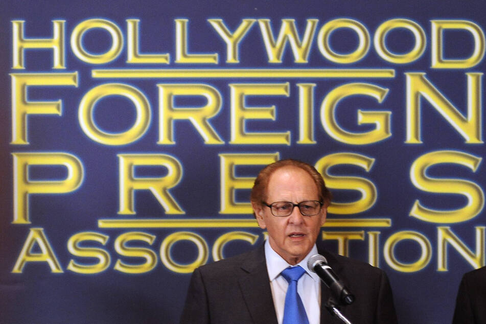 Philip Berk speaking at an event for the Hollywood Foreign Press Association during his former presidency.