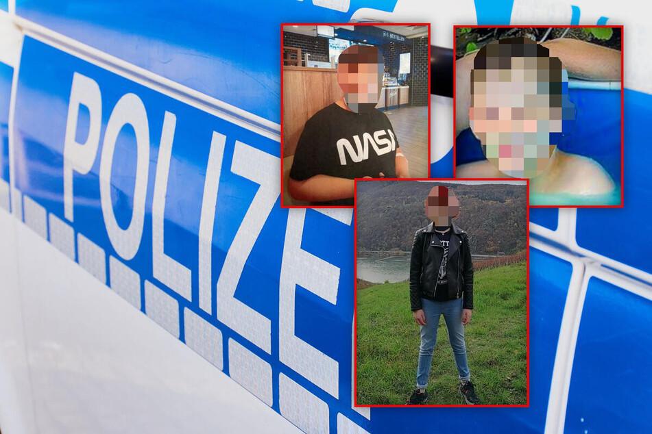 Die Polizei veröffentlichte drei Fotos der vermissten Kinder.