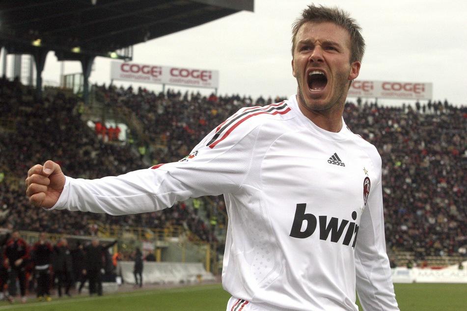 Beckham schnürte 2009 und 2010 seine Fußballschuhe für Inter Mailands Stadtrivalen AC.