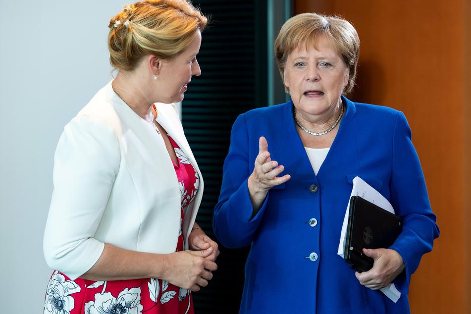 Angela Merkel bedauert Giffey-Rücktritt