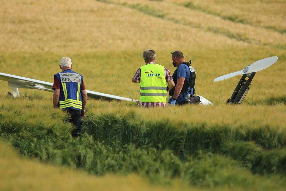 Ein Mann aus Berlin ist am Mittwoch mit einem Ultraleichtflugzeug im Harz abgestürzt.