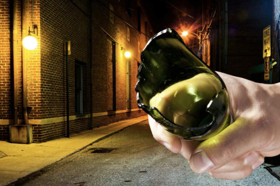 Leipzig: Überfall in Leipzig-Plagwitz: Frau (21) von hinten mit Glasflasche attackiert