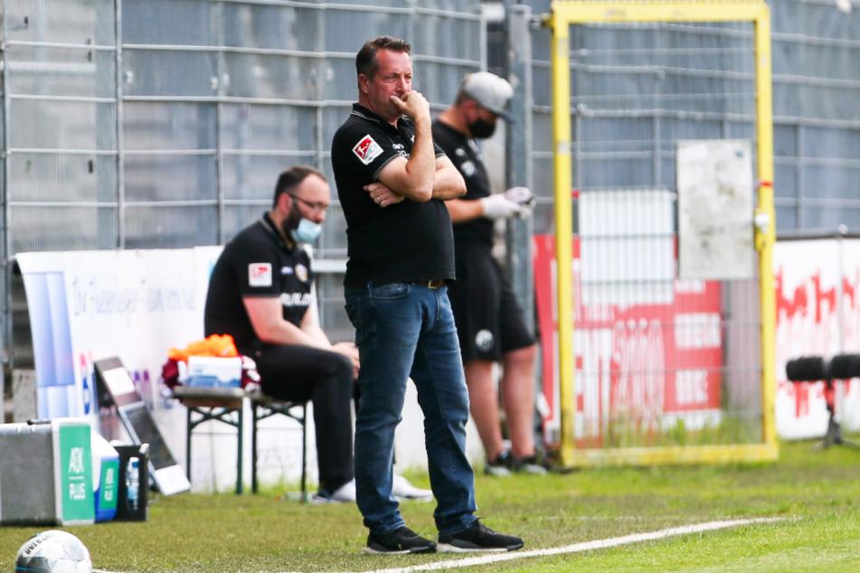Dynamo-Coach Markus Kauczinski gewann mit seinem Team mit 1:0 beim SV Sandhausen, was aber nicht ausreichte, um am gegen Osnabrück ein Endspiel zu haben.