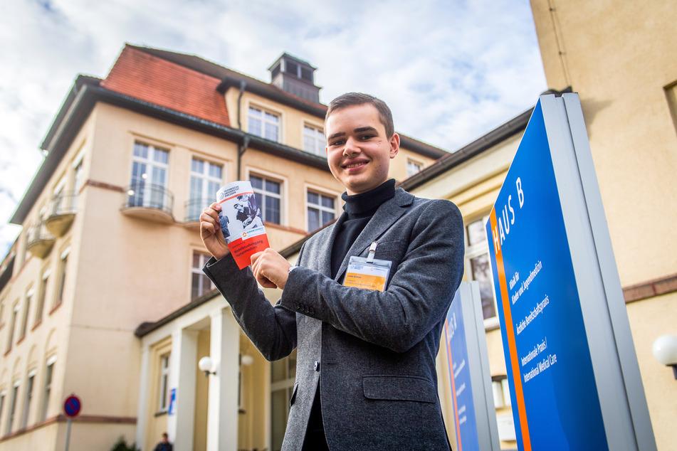 Louis Grieser (18) aus Dresden ist kürzlich für den Humanmedizin-Studiengang nach Chemnitz gezogen.