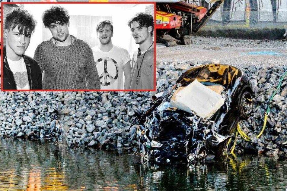Auto stürzt aus 25 Metern Höhe in Kanal: Band und Manager tot