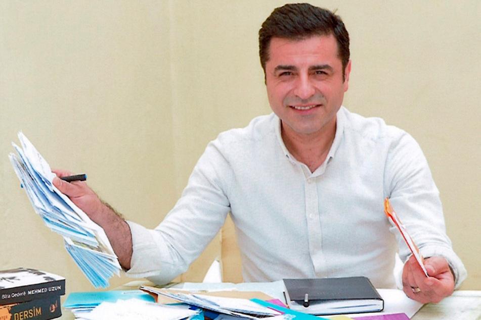 Selahattin Demirtas, Präsidentschaftskandidat der oppositionellen pro-kurdischen Partei HDP.