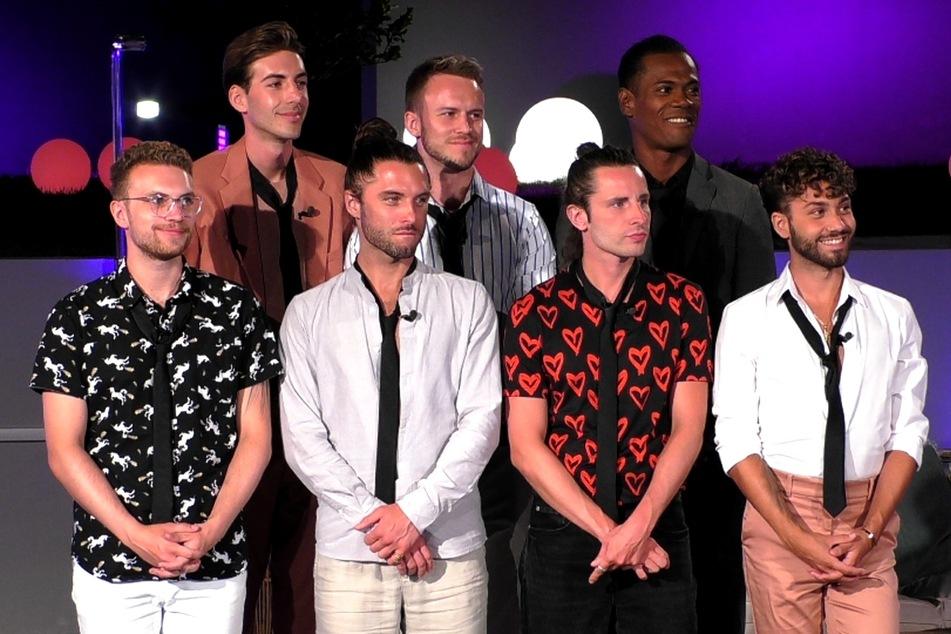 Drei der sieben Jungs mussten kurz vorm Halbfinale gehen: Arne (hinten l.), Michael (hinten r.) und Andrea (vorn r.).