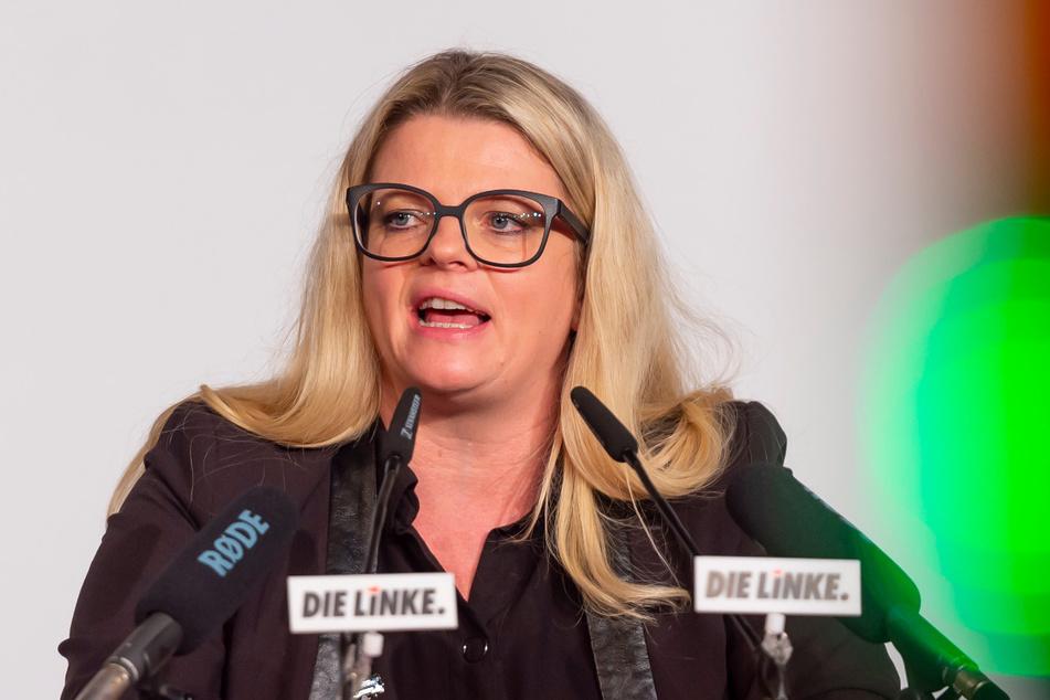 Sachsens Linke-Parteichefin Susanne Schaper (43) ist gelernte Krankenschwester.