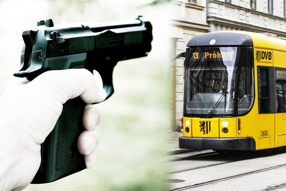 Männer gehen mit Hund auf Kinder in Dresdner Straßenbahn los, dann zieht einer eine Waffe!