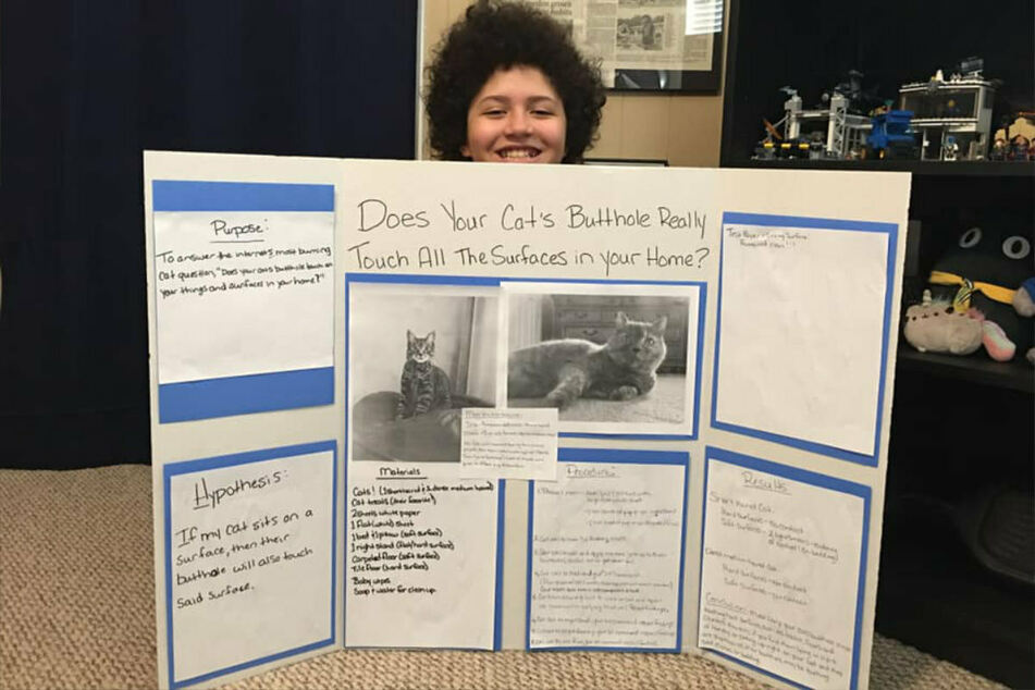 Kerry proudly shared her son Kaeden's project on Facebook.