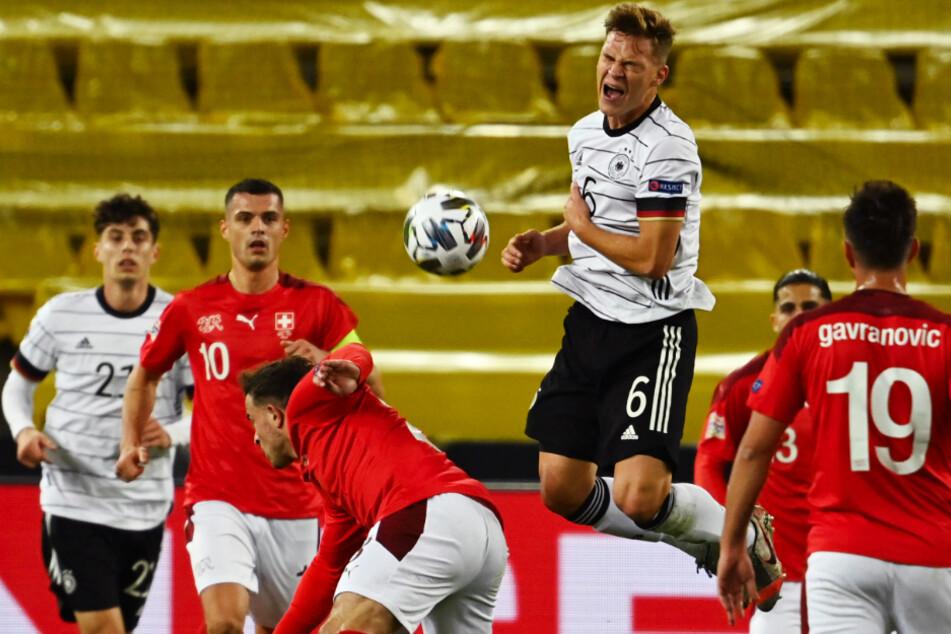 Joshua Kimmich (3.v.r.) feierte Jubiläum und absolvierte sein 50. Länderspiel für Deutschland.