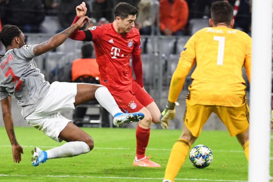 Lohn für die harte Arbeit: Der FC Bayern München bleibt in der CL ungeschlagen.