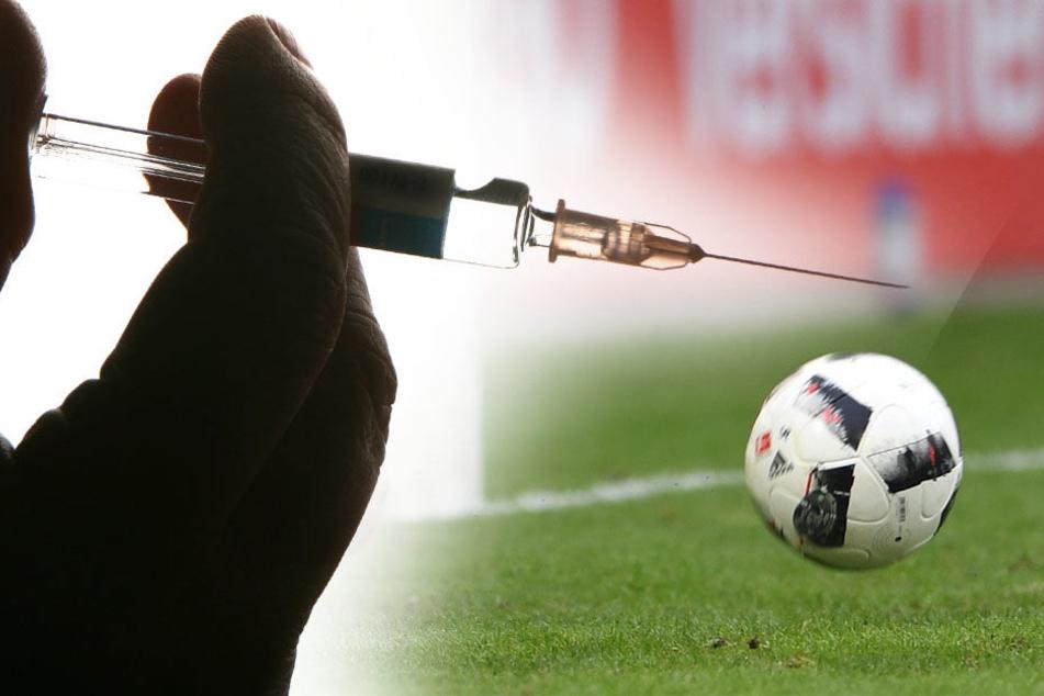 Fußballspieler piekst Kontrahenten mit Nadel, damit er gewinnt