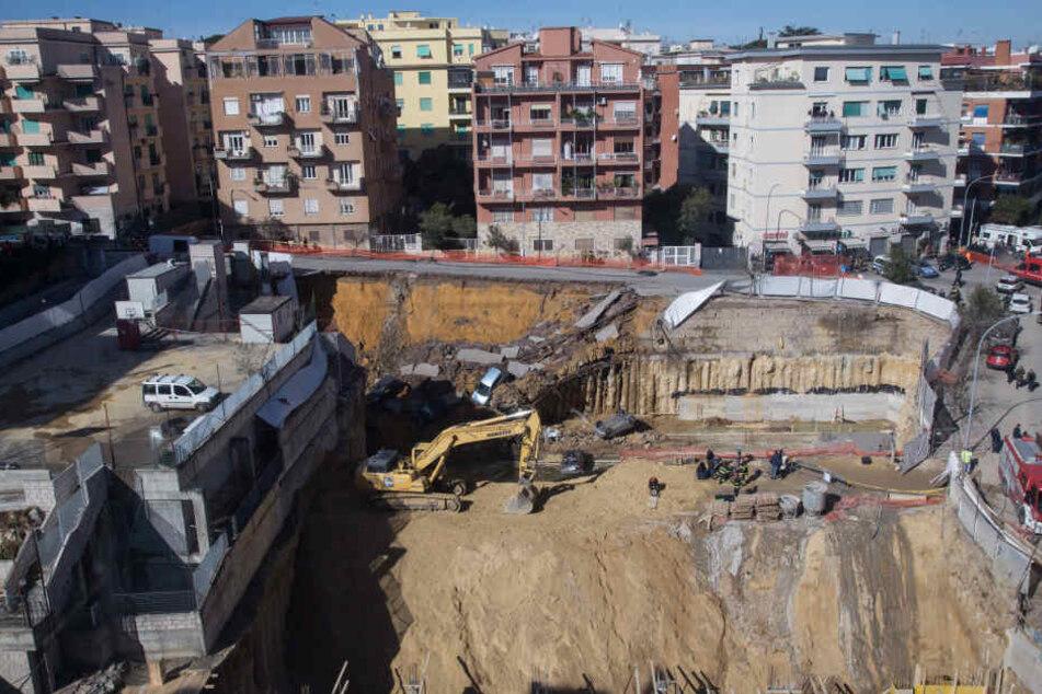 Ein Erdrutsch hat im römischen Stadtteil Balduina für Chaos und Verwüstung gesorgt.