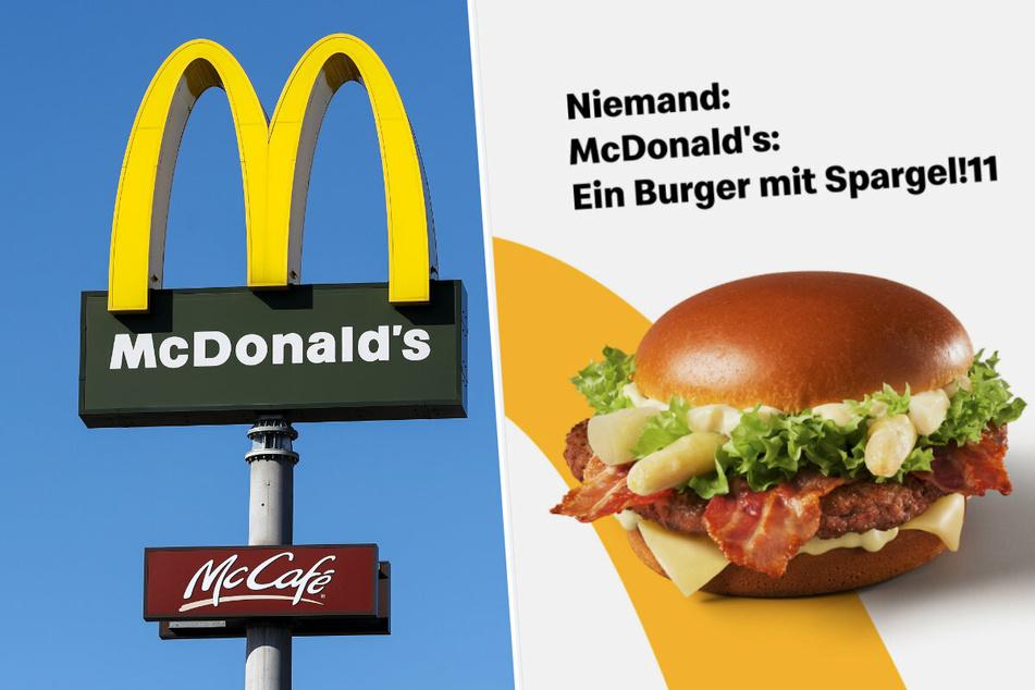 Kein Witz: Bei McDonald's gibt es nun auch Burger mit Spargel und Sauce Hollandaise!