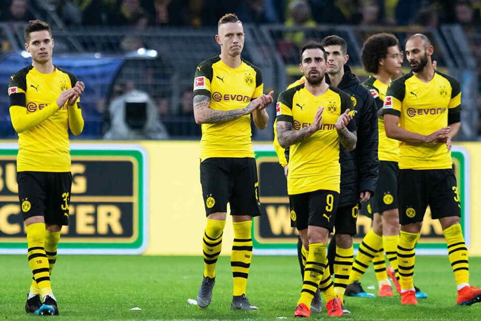 Fassungslose Gesichter bei den Spielern: Sie gaben gegen die TSG 1899 Hoffenheim eine sichere 3:0-Führung noch aus den Händen.