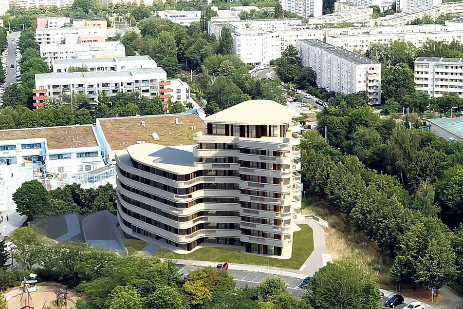 Als Abschluss der Höhenpromenade soll in Gorbitz dieser Neubau entstehen.