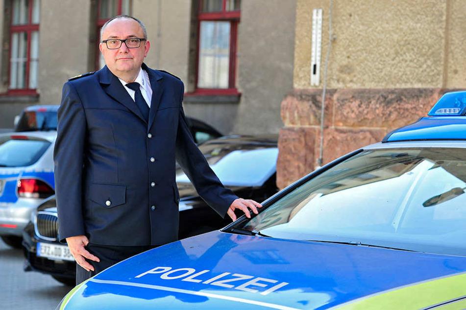 Problem mit Plauen: Polizeichef Conny Stiehl (60).