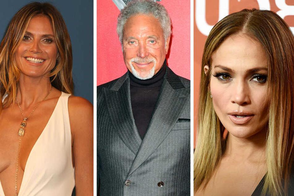 Heidi Klum, Tom Jones und Jennifer Lopez (v. l.) haben es vorgemacht: Promis gehen gern auf Nummer sicher und versichern ihre eigenen Körperteile.