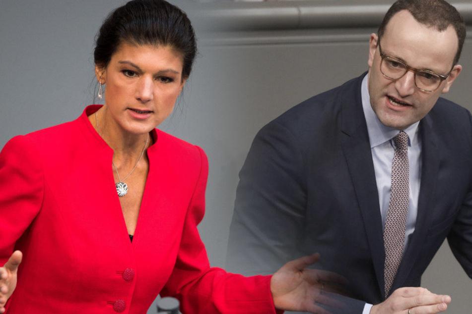 Sarah Wagenknecht und Jens Spahn waren bei Anne Will nicht einer Meinung.