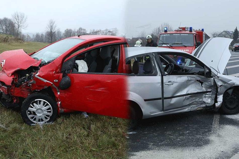 Ford und Citroën auf B170 kollidiert: Zwei Personen verletzt, eine Frau schwer