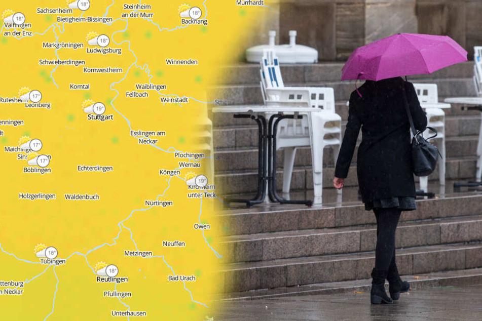 Kühler wird's und unter Umständen auch nass. (Fotomontage/Symbolbild)