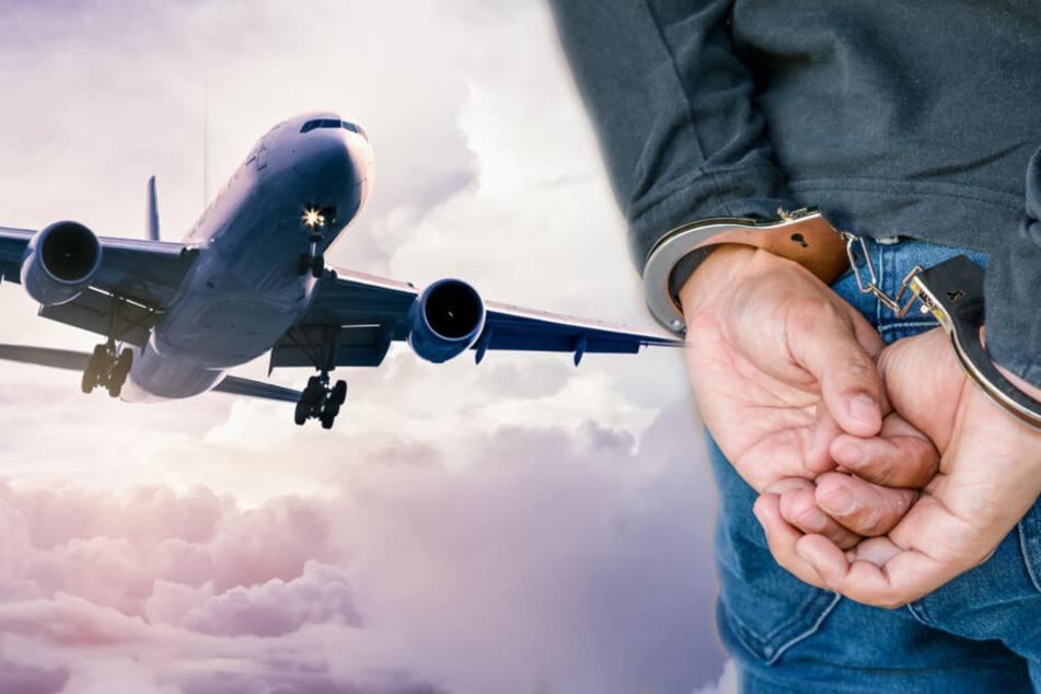 Noch am Flughafen wurde der 26-jährige verhaftet. (Symbolbild)