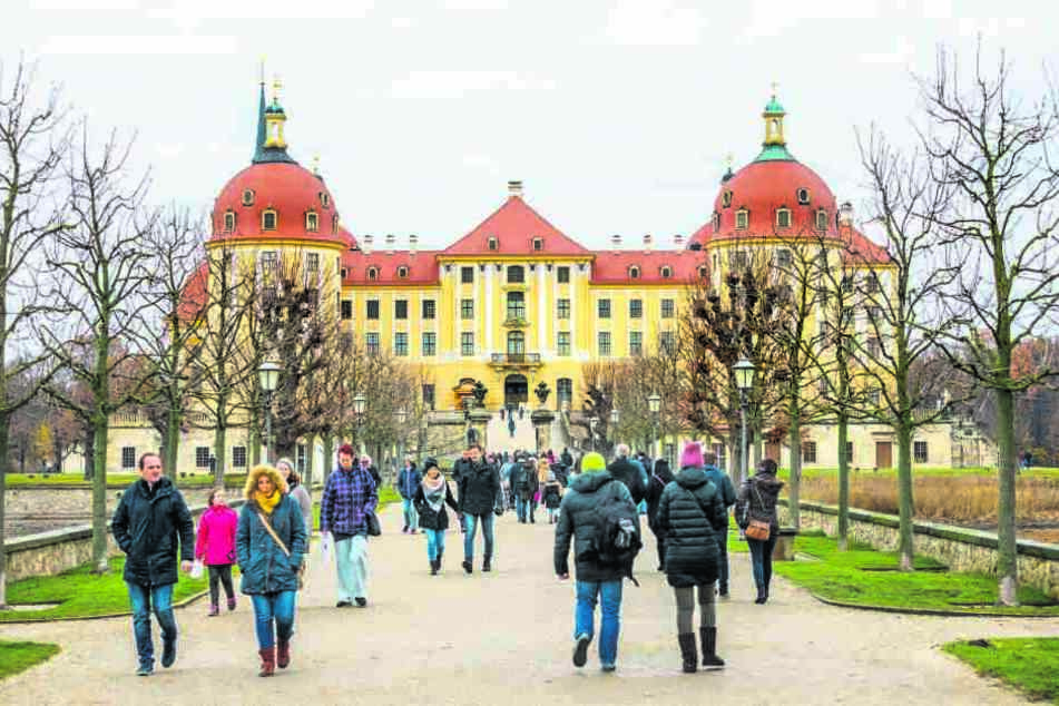 Schloss Moritzburg war gestern gut besucht. Rund 300 000 Gäste zählt das  Jagdschloss jährlich.