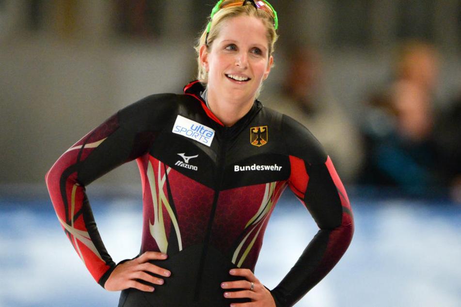 Bente Pflug gehörte zu den Stützen des deutschen Eisschnelllauf-Trios in der Teamverfolgung.