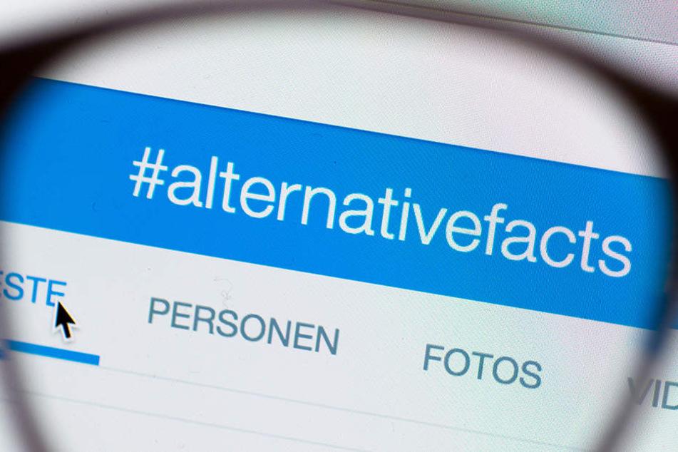 Auf Twitter bekamen die alternativen Fakten sogar einen eigenen Hashtag.