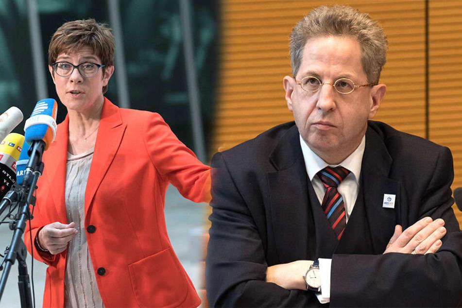 Harte Worte von AKK: Fliegt Maaßen aus der CDU?
