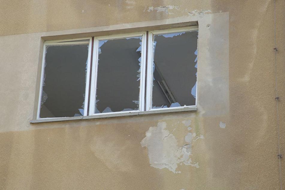 Im Inneren des Gebäudes ging einiges zu Bruch.