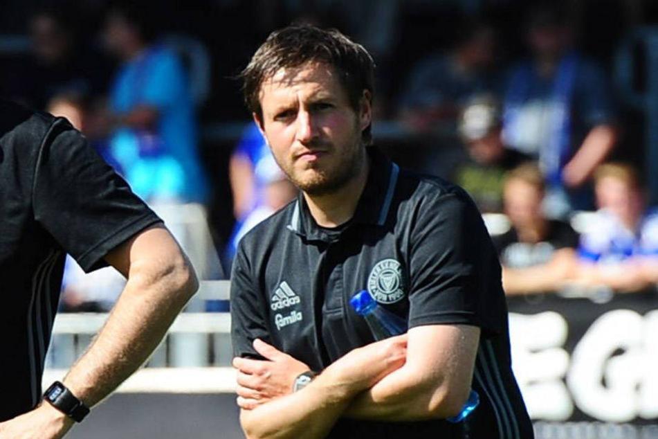"""Hannes Drews trainierte die """"U19"""" von Holstein Kiel, jetzt wird er neuer Aue-Coach."""