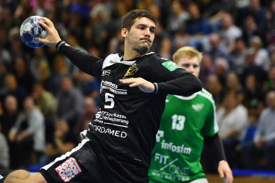 Tim-Philip Jurgeleit war mit 4 Treffern (davon 3 Siebenmeter) der Beste.