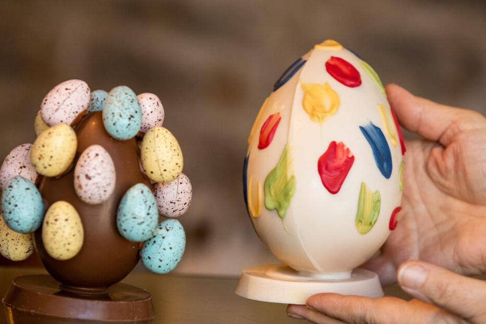 Handarbeit aus der Chocolaterie Molina: Nicht jedes Ei kommt bei den Deutschen ins Osternest.