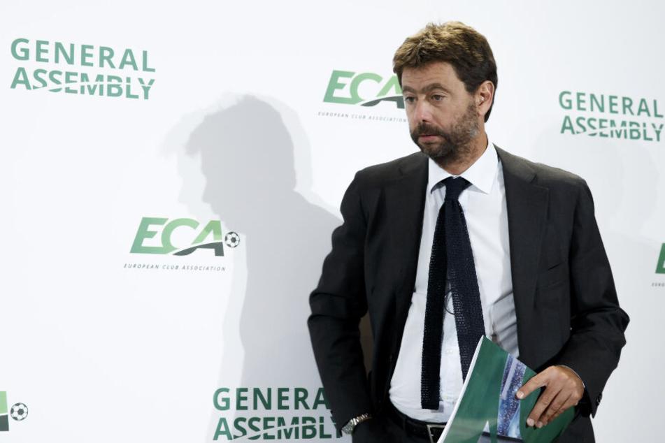 ECA-Chef Andrea Agnelli. Ruft er zusammen mit den Klub das Sommerturnier ins Leben?