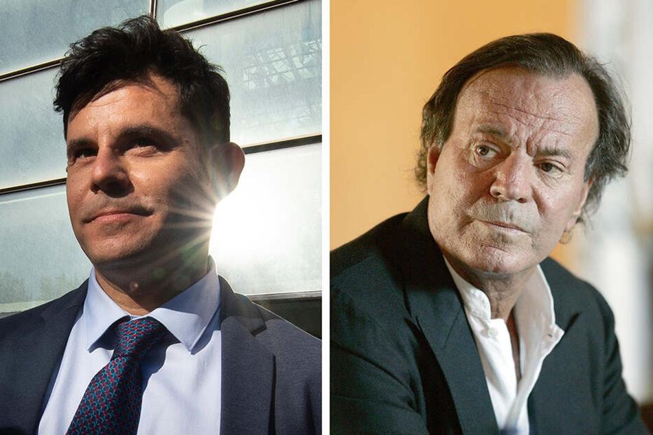 Nun offiziell Vater und Sohn. Javier Sanchez Santos und Julio Iglesias.