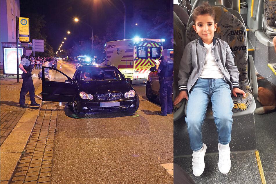 Der Mercedes kurz nach der Kollision. Der kleine Ali hatte keine Chance.