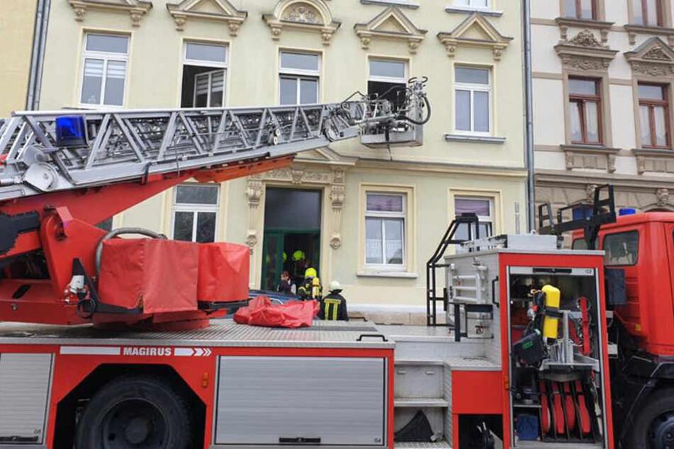 Für den Feuerwehreinsatz musste die Stockmannstraße gesperrt werden.